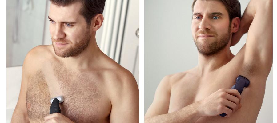 Usar afeitadora corporal para hombre
